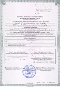 Приложение № 1 к лицензии