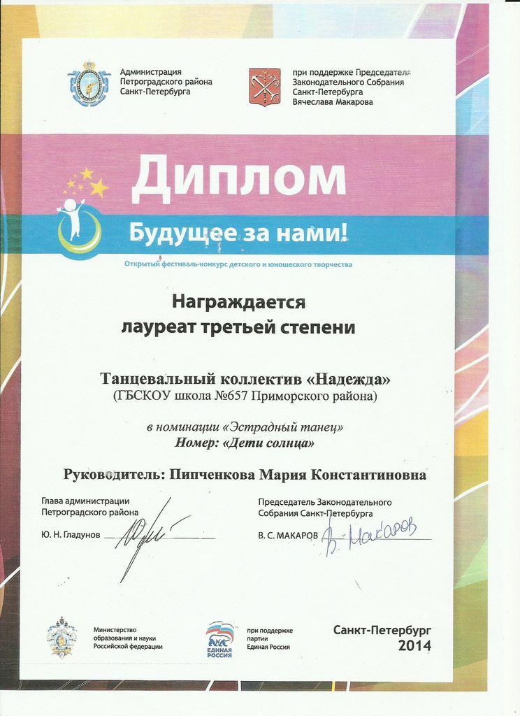 ОТКРЫТЫЙ ГОРОДСКОЙ ФЕСТИВАЛЬ-КОНКУРС Будущее за нами_result