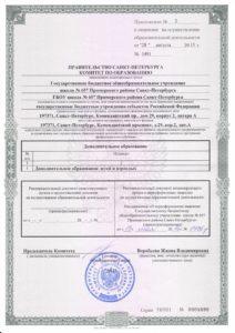 Приложение № 2 к лицензии